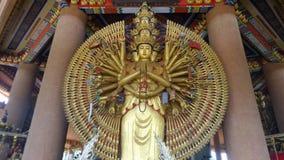 大Kuam-Im Bodhisattaya用一千只手 免版税库存照片