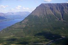 大kureika多数全景高原强大的putorana俄国西伯利亚瀑布 免版税图库摄影