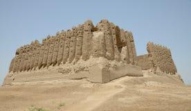 大Kyz Kala堡垒,梅尔夫,土库曼斯坦 免版税图库摄影