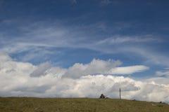 大Nurgush山的上面 库存图片