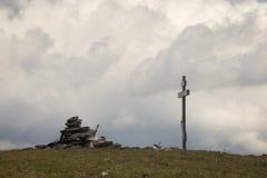 大Nurgush山的上面 免版税库存图片