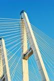 大Obukhovsky桥梁(缆绳被停留) 免版税图库摄影