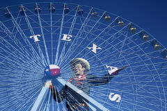 大Tex和得克萨斯名星 免版税库存图片