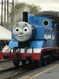 天与艾塞克斯蒸汽火车的托马斯在康涅狄格 免版税图库摄影