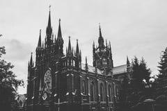 天主教会在莫斯科 库存照片