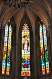 天主教内部教会的建筑 免版税库存照片