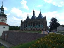 天主教堂在库特纳霍拉在捷克 库存图片