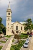 天主教堂在Sighisoara的中心 库存图片