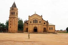 天主教教会卢旺达 免版税库存照片
