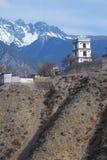 天主教教会在西藏 免版税库存照片
