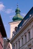 天主教教会塔 免版税图库摄影