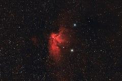 天体摄影:在Cepheus星座的Wizzard星云 免版税库存照片