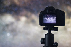 天体摄影 宇宙天文学长的曝光摄影 图库摄影