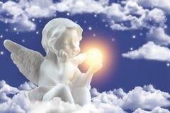 天使一个小的图  免版税库存图片