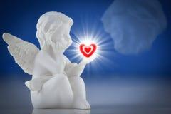 天使一个小的图  库存照片