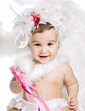 天使亚洲男婴礼服花梢 免版税库存照片