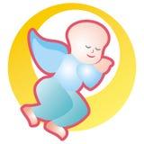 天使休眠 向量例证