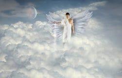 天使做云彩 库存照片