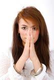 天使划分为的祈祷 免版税库存图片