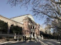 天使划分为的马德里公园retiro西班牙雕象 免版税库存照片