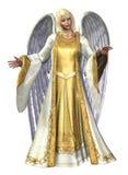 天使剪报包括轻的路径 免版税库存照片