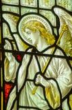 天使加百利污迹玻璃窗 库存图片