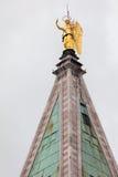 天使加百利顶面圣马克的钟楼风向  库存照片