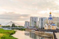 天使加百利,别尔哥罗德州市,俄罗斯的教会 免版税库存图片
