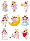天使动画片图标 免版税库存图片