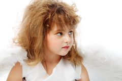 天使发型 免版税图库摄影
