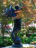 天使古铜色雕象 免版税图库摄影