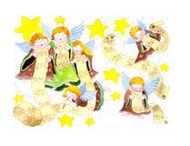 天使合唱 向量例证