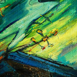 天使和十字架,绘由在帆布的油 皇族释放例证