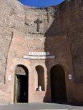 天使和受难者,罗马的圣玛丽大教堂 库存图片