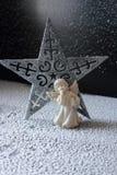 天使和星 免版税库存照片