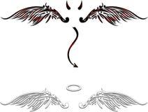 天使和邪魔翼 库存照片