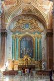 天使和Marty的圣玛丽大教堂的内部  免版税库存照片