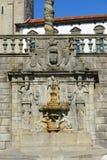 天使喷泉,波尔图,葡萄牙 免版税库存照片