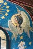 天使图象在窗口里 免版税库存照片
