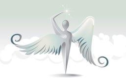 天使圣洁图标 向量例证