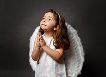 天使圣洁祈祷 免版税库存图片