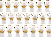 天使圣诞节小雕象组 免版税库存图片