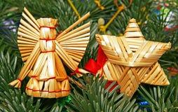 天使圣诞节快活的星形 免版税库存照片