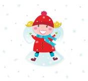 天使圣诞节服装女孩愉快的做的红色 库存图片