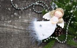 天使圣诞节查出的白色 库存照片