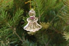 天使圣诞节查出的白色 免版税库存图片