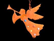 天使圣诞节装饰品结构树 免版税库存图片