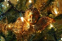 天使圣诞节装饰品 库存照片