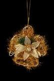 天使圣诞节装饰金子 免版税库存照片