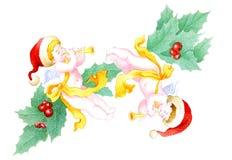 天使圣诞节 库存例证
